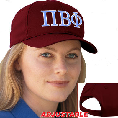 Pi Beta Phi 2-Color Embroidered Cap - Port and Company CP80 - EMB