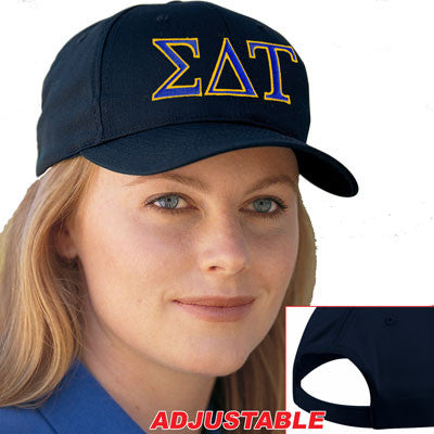 Sigma Delta Tau 2-Color Embroidered Cap - Port and Company CP80 - EMB