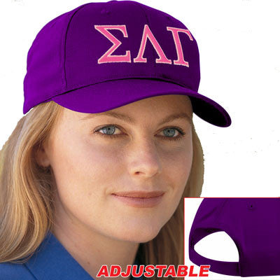 Sigma Lambda Gamma 2-Color Embroidered Cap - Port and Company CP80 - EMB