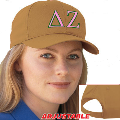 Delta Zeta 2-Color Embroidered Cap - Port and Company CP80 - EMB