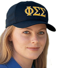 Sorority Adjustable 2-Color Embroidered Cap - Port and Company CP80 - EMB