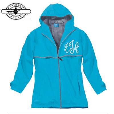 Zeta Tau Alpha Rain Jacket with Script Monogram