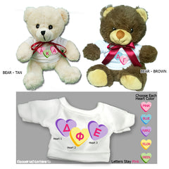 Sorority Custom Heart Teddy Bear - 25001-2 - SUB