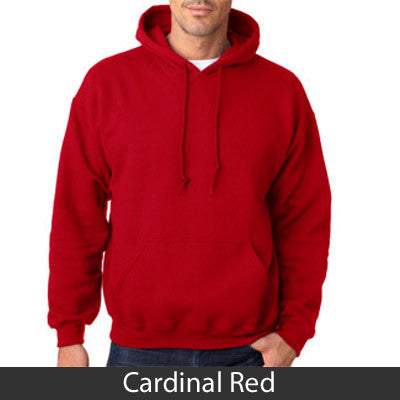 Delta Chi Hooded Sweatshirt - Gildan 18500 - TWILL