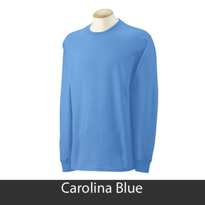 Gamma Phi Beta Longsleeve T-Shirt with Twill - Gildan 2400 - TWILL