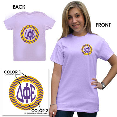 Sorority Printed Chevron T-Shirt - Gildan 5000 - CAD