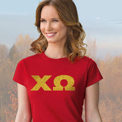 Chi Omega Ladies' Softstyle Printed T-Shirt - Gildan 6400L - CAD