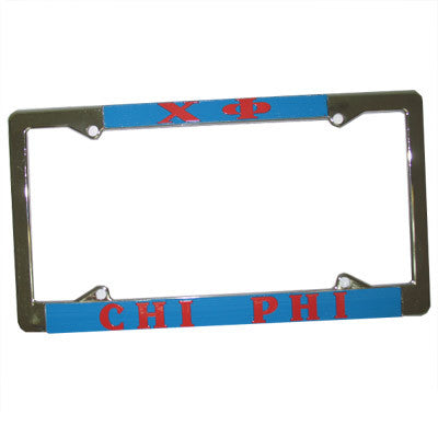 Chi Phi License Plate Frame - Rah Rah Co. rrc