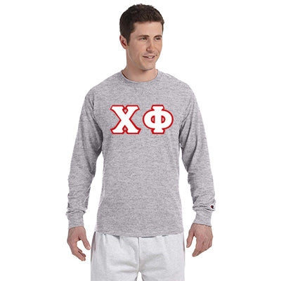 Chi Phi Greek Champion Long-Sleeve Tee - Champion CC8C - TWILL