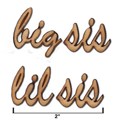 sorority big sislil sis attached script letters greek accessories something greek