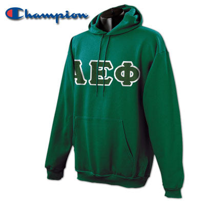 Alpha Epsilon Phi Champion Hooded Sweatshirt - Champion S700 - TWILL