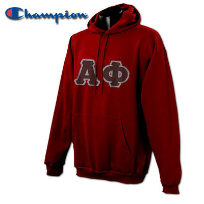 Alpha Phi Champion Hooded Sweatshirt - Champion S700 - TWILL