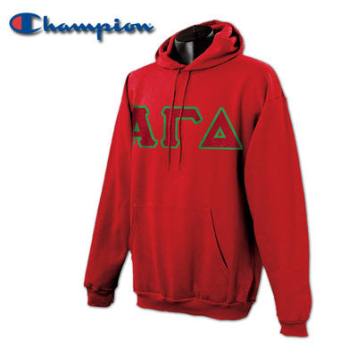 Alpha Gamma Delta Champion Hooded Sweatshirt - Champion S700