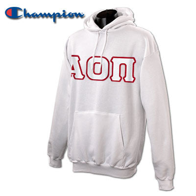 Alpha Omicron Pi Champion Hooded Sweatshirt - Champion S700 - TWILL