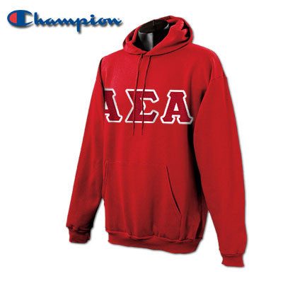 Alpha Sigma Alpha Champion Hooded Sweatshirt - Champion S700 - TWILL