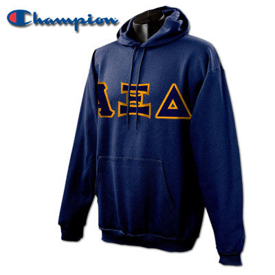Alpha Xi Delta Champion Hooded Sweatshirt - Champion S700 - TWILL