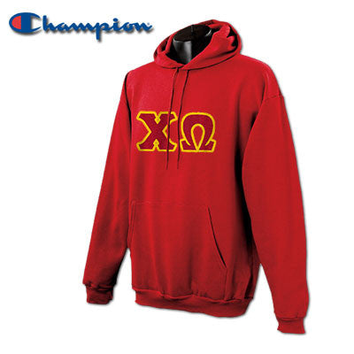 Chi Omega Champion Hooded Sweatshirt - Champion S700 - TWILL
