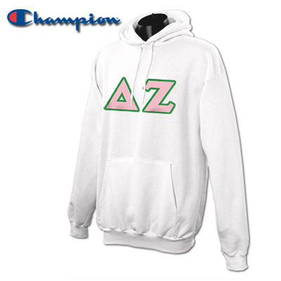 Delta Zeta Champion Hooded Sweatshirt - Champion S700 - TWILL