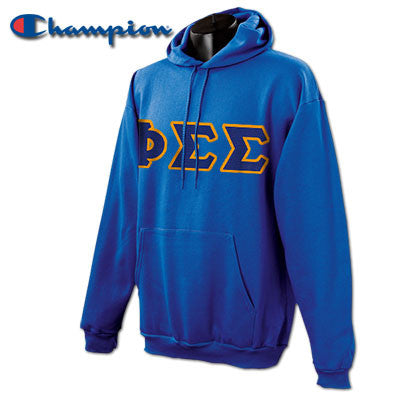 Phi Sigma Sigma Champion Hooded Sweatshirt - Champion S700 - TWILL
