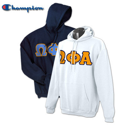 Omega Phi Alpha 2 Champion Hoodies Pack - Champion S700 - TWILL
