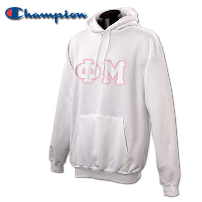 Phi Mu Champion Hooded Sweatshirt - Champion S700 - TWILL