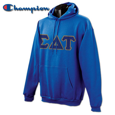 Sigma Delta Tau Champion Hooded Sweatshirt - Champion S700 - TWILL