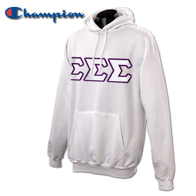 Sigma Sigma Sigma Champion Hooded Sweatshirt - Champion S700 - TWILL
