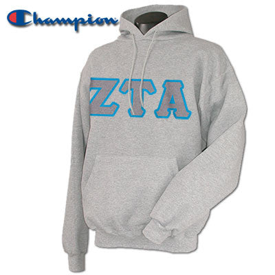 Zeta Tau Alpha Champion Hooded Sweatshirt - Champion S700 - TWILL