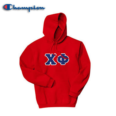 Chi Phi Champion Hooded Sweatshirt - Champion S700 - TWILL
