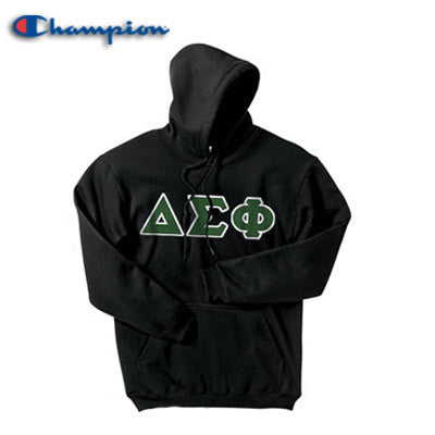 Delta Sigma Phi Champion Hooded Sweatshirt - Champion S700 - TWILL
