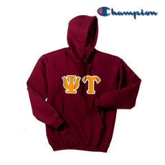 Psi Upsilon Champion Hooded Sweatshirt - Champion S700 - TWILL