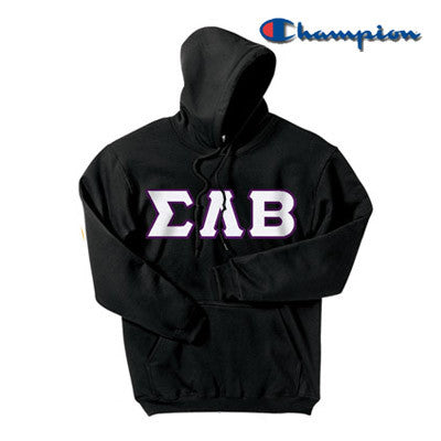 Sigma Lambda Beta Champion Hooded Sweatshirt - Champion S700 - TWILL