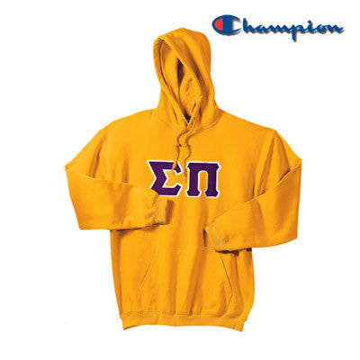 Sigma Pi Champion Hooded Sweatshirt - Champion S700 - TWILL