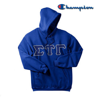 Sigma Tau Gamma Champion Hooded Sweatshirt - Champion S700 - TWILL