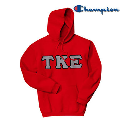 Tau Kappa Epsilon Champion Hooded Sweatshirt - Champion S700 - TWILL