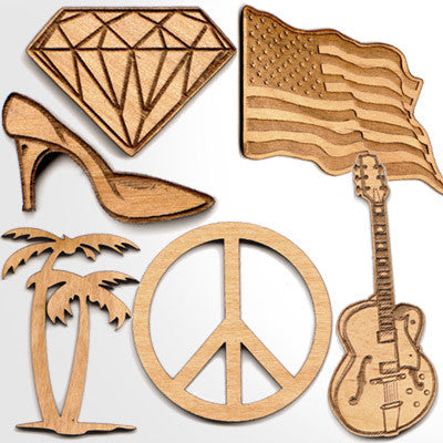 Custom Engraved Wooden Symbols