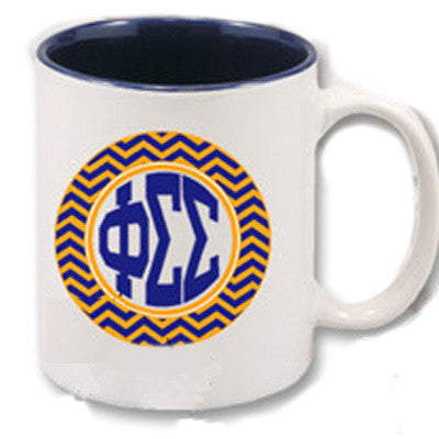 Custom Chevron Sorority Coffee Mug - SM11 - SUB
