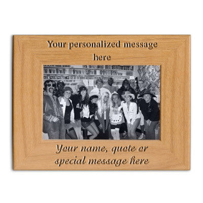 Custom Greek Engraved 4x6 Picture Frame - PTF146 - LZR