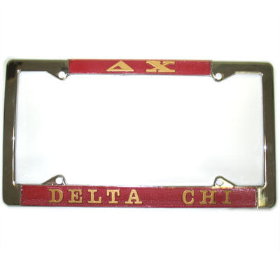 Delta Chi License Plate Frame - Rah Rah Co. rrc