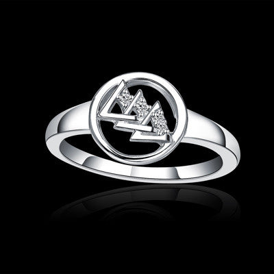 Delta Delta Delta Sorority Heart Ring - GSTC-R002