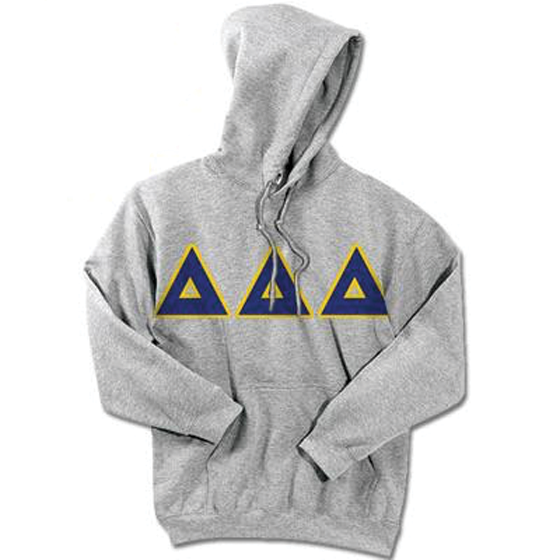 Delta Delta Delta Standards Hooded Sweatshirt - $25.99 Gildan 18500 - TWILL