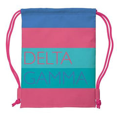 Delta Gamma Drawstring Backpack - a1009