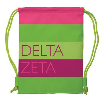 Delta Zeta Drawstring Backpack - a1009