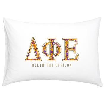 Delta Phi Epsilon Floral Cotton Pillowcase - Alexandra Co. a3016