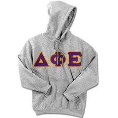 Delta Phi Epsilon Standards Hooded Sweatshirt - $25.99 Gildan 18500 - TWILL