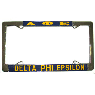 Delta Phi Epsilon License Plate Frame - Rah Rah Co. rrc