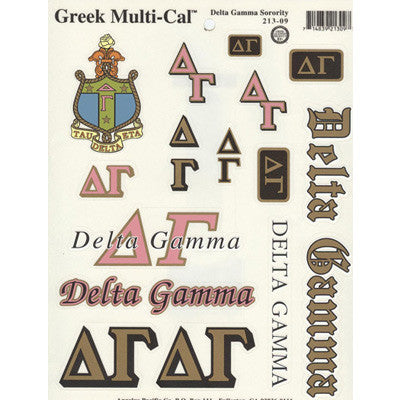 Delta Gamma Multi-Cal Stickers