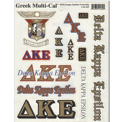 Delta Kappa Epsilon Multi-Cal Sticker