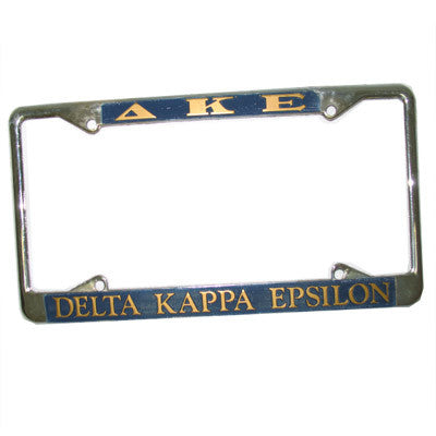 Delta Kappa Epsilon License Plate Frame - Rah Rah Co. rrc