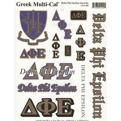 Delta Phi Epsilon Multi-Cal Stickers